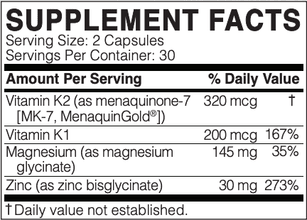 megaquinone k2-7 ingredients